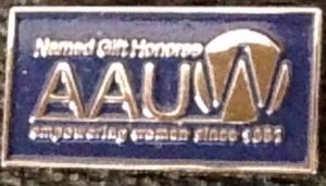 AAUW Named Gift Honoree Pin with Logo